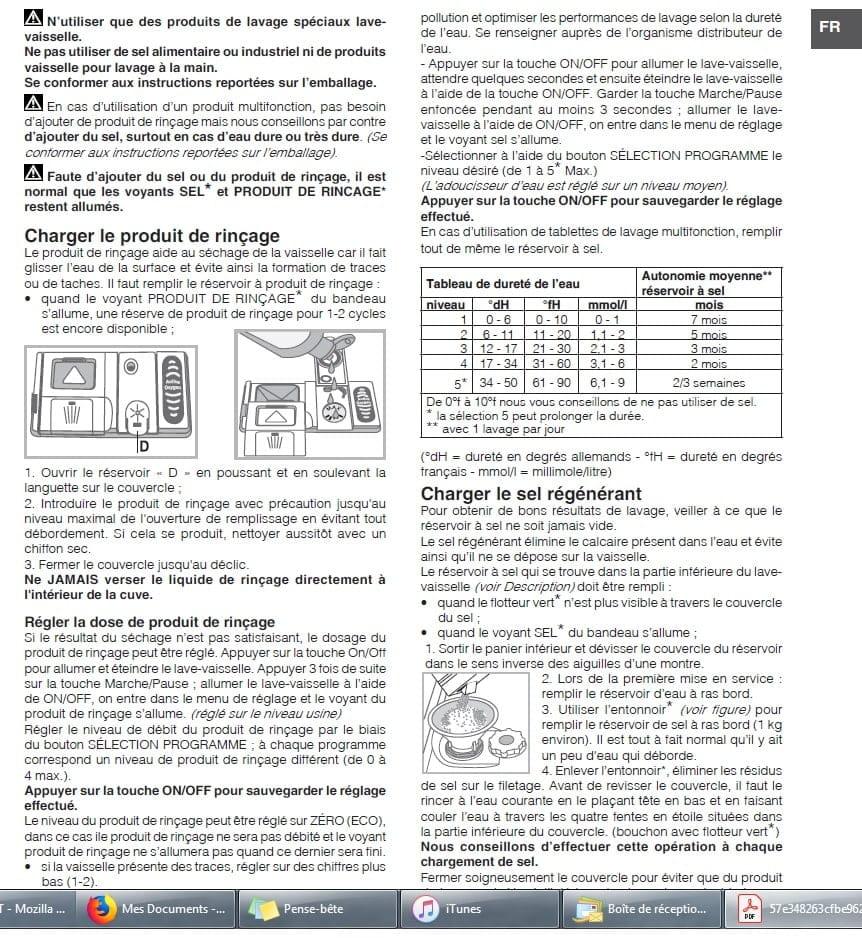 revendeur c638b e2ff2 Voyant clignotes (liquide de rinçage + Sel)