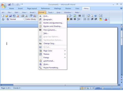 T l charger classic menu for word 2010 gratuit - Telechargement gratuit de word office 2007 ...