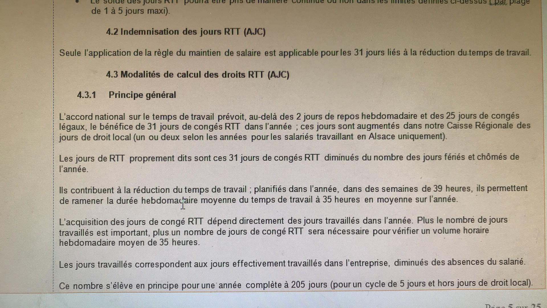 Rtt Deduits Des Jours Feries Conges