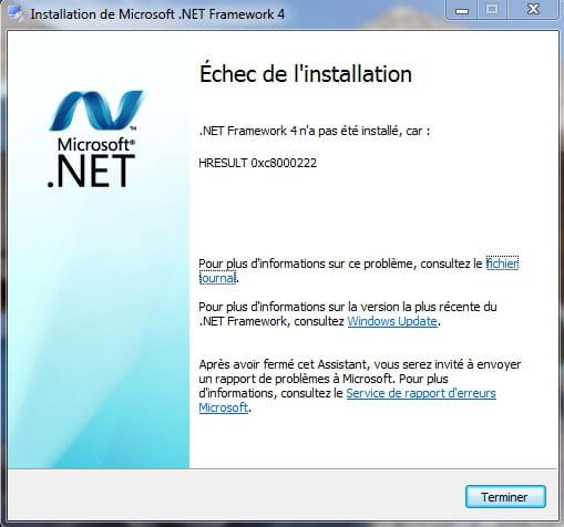 Tutoriel pour télécharger et installer .NET Framework 3.5 sur Windows 8 et 8.1 parce que le logiciel n'est pas livré d'origine.