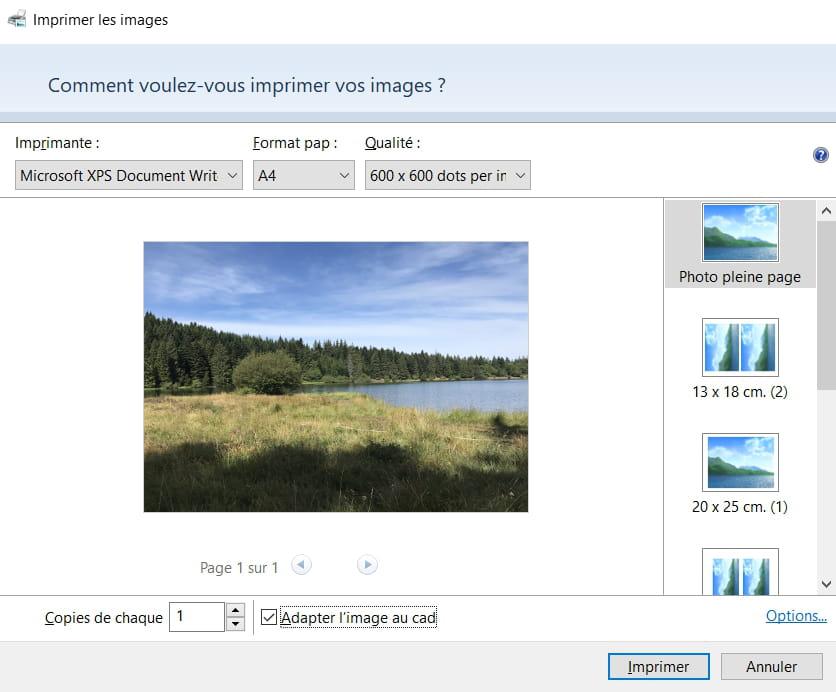 Imprimer Des Photos Avec Windows 10 Comment Ca Marche