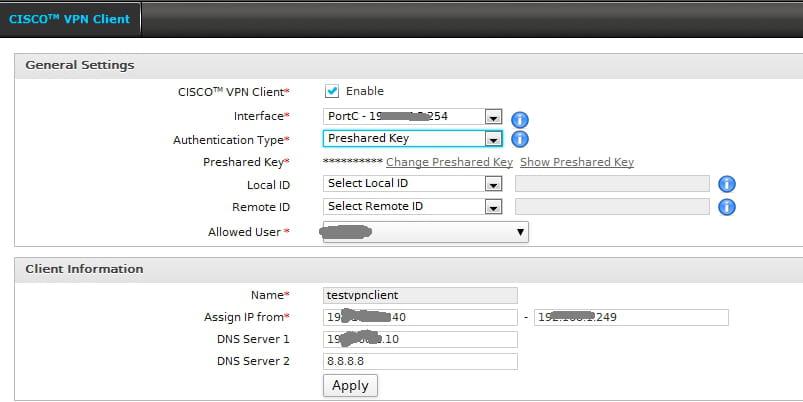 Cyberoam - Cisco VPN Client [Résolu] - Réseau