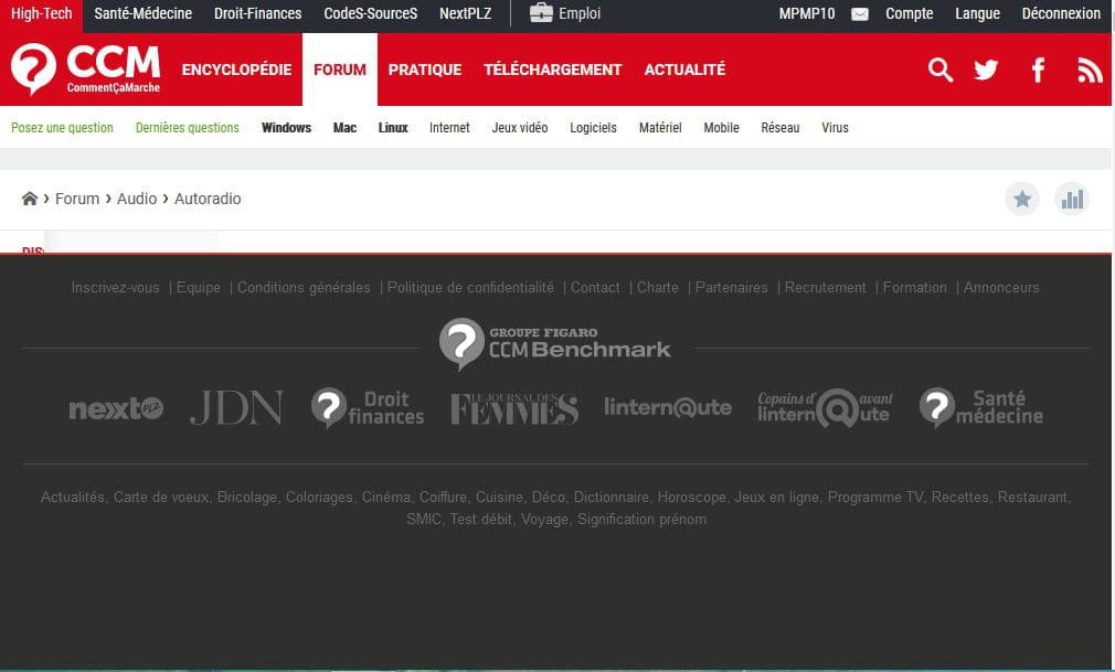 Ccm Anomalie Affichage Des Forums Resolu Bugs Et Suggestions Ccm
