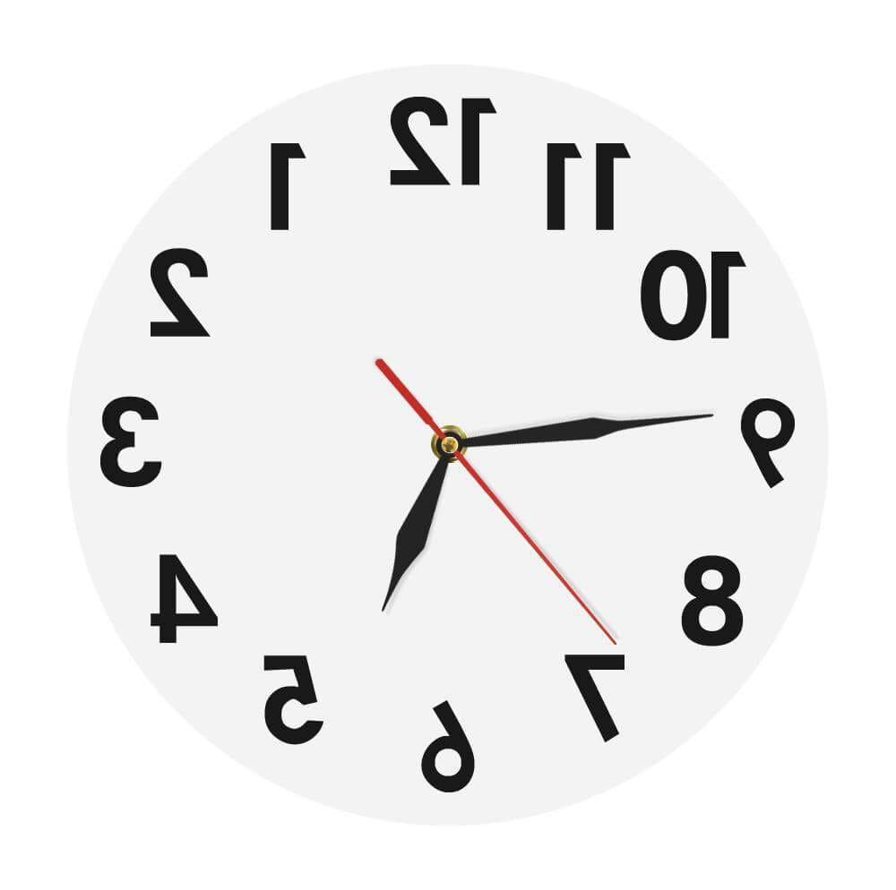horloge murale inversée