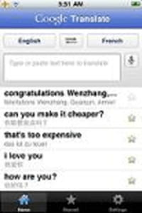 Google Translate disponible sur l'App Store