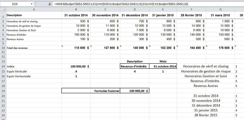 Recherche d'une somme dans un tableau avec 2 critère Mois/revenu - Forum Excel - Comment Ça Marche