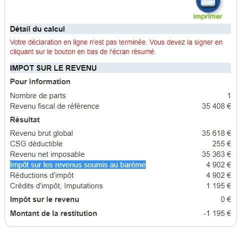 Revenu Net Imposable Et Deficit Foncier Forum Declaration