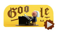 Google rend hommage à Bach avec un doodle musical