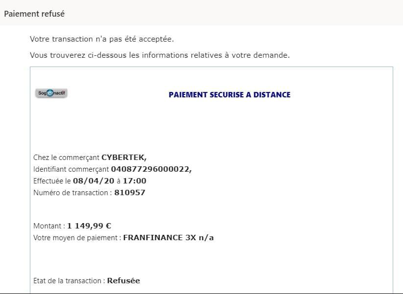 Paiement En 3 Fois Sans Frais Franfinance Societe Generale Droit Finances