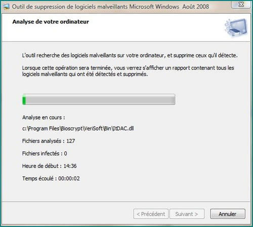 Outil de suppression de logiciels malveillants windows 7 x64