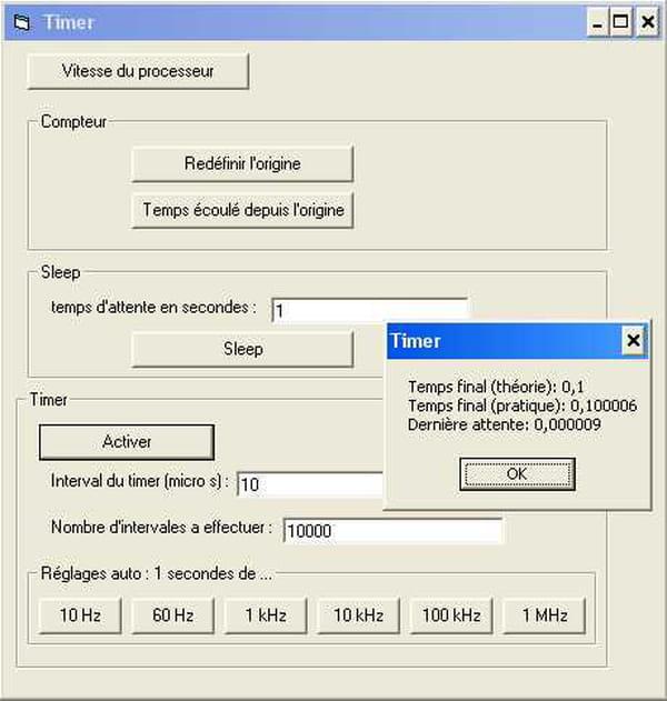 visual basic vb net timer sleep chronom trage vitesse du processeur a la microseconde. Black Bedroom Furniture Sets. Home Design Ideas