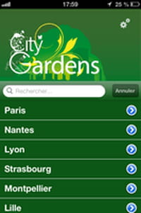 Les parcs de votre ville dans votre smartphone avec CityGardens