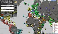 Newspaper Map, une carte interactive des titres de presse dans le monde