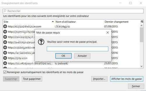Protéger les mots de passe enregistrés dans Firefox PRAT05