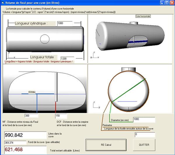 visual basic vb net calcul du volume partiel d une cuve mazout pos horizontalement. Black Bedroom Furniture Sets. Home Design Ideas