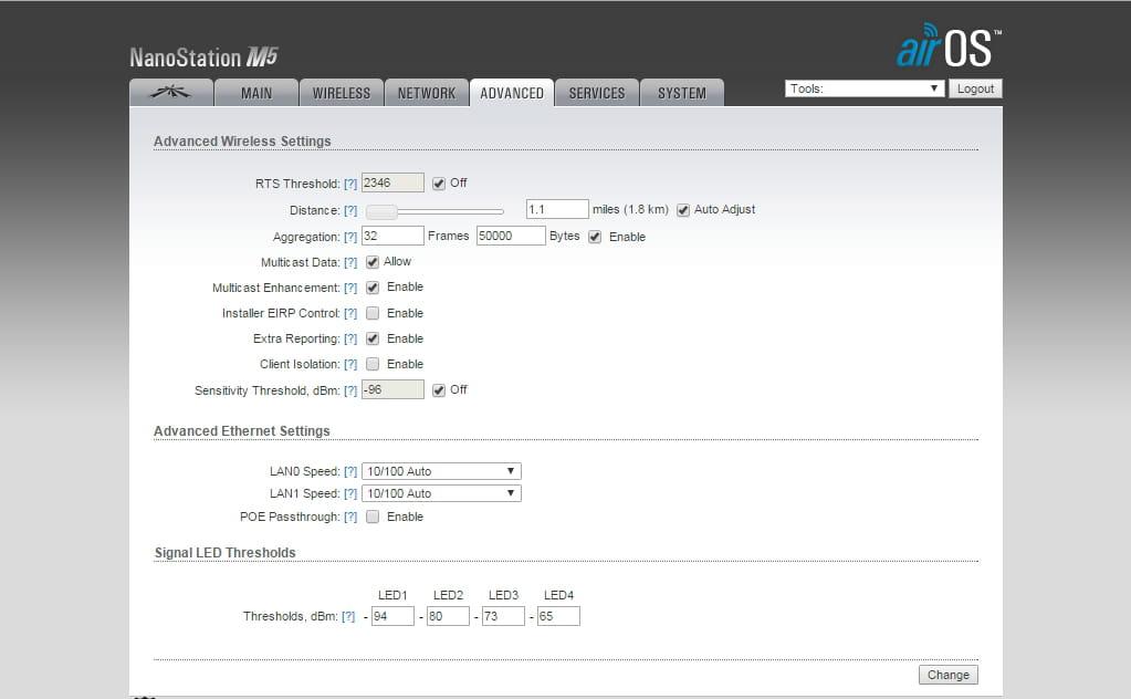 Nanostation M5 problème de configuration Point Access (Hostpot)
