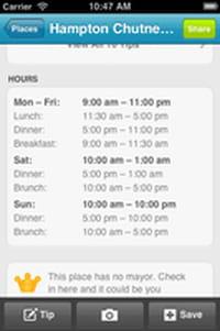 Fourquare : les entreprises peuvent afficher leurs horaires d'ouverture