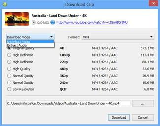 Télécharger et convertir des vidéos YouTube avec 4K Video Downloader
