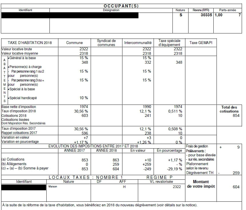 Erreur Degrevement Taxe Habitation 30 Resolu