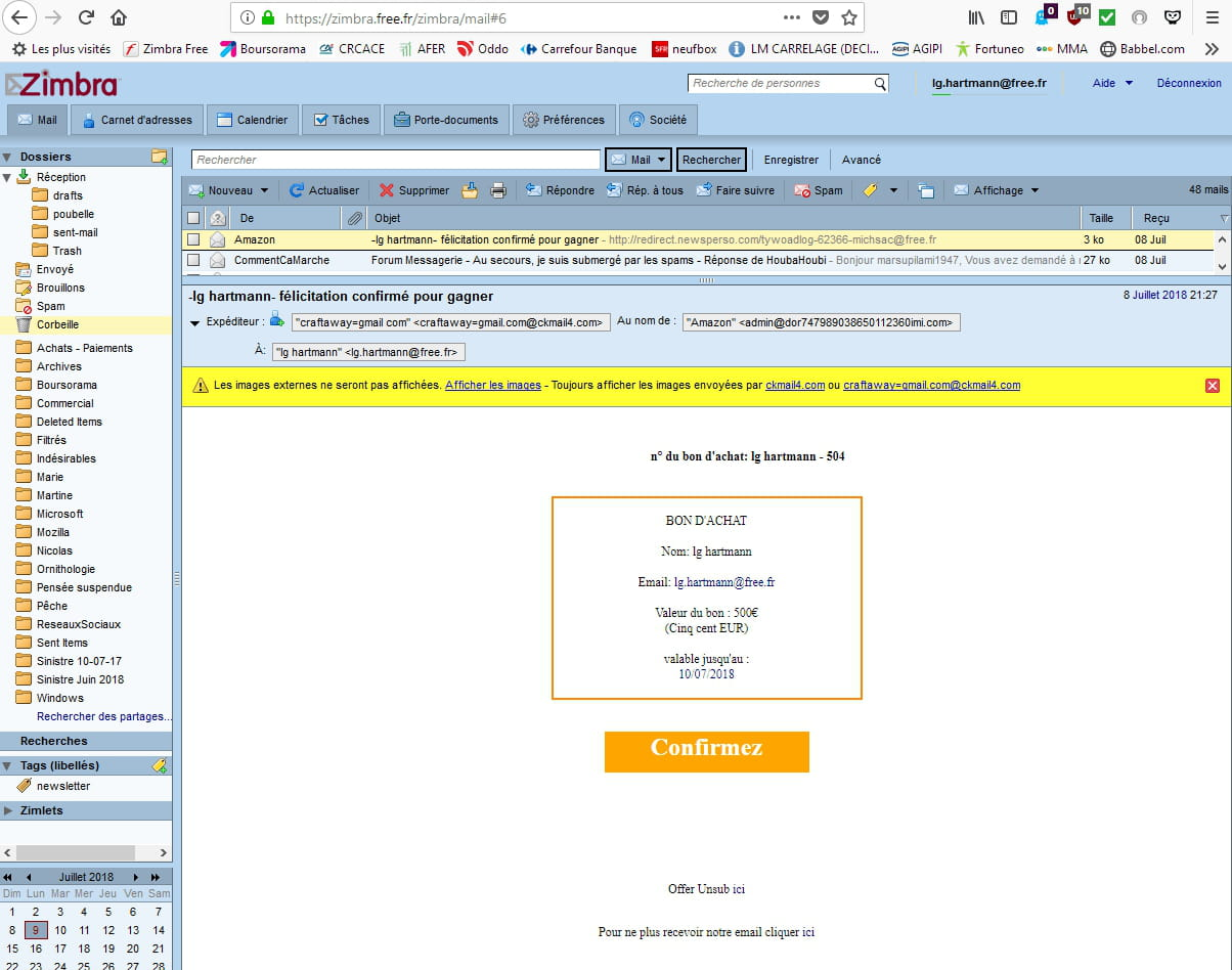 comment se d?barrasser des mails ind?sirables free