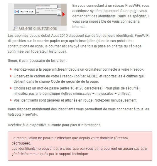 comment retrouver ses codes free wifi
