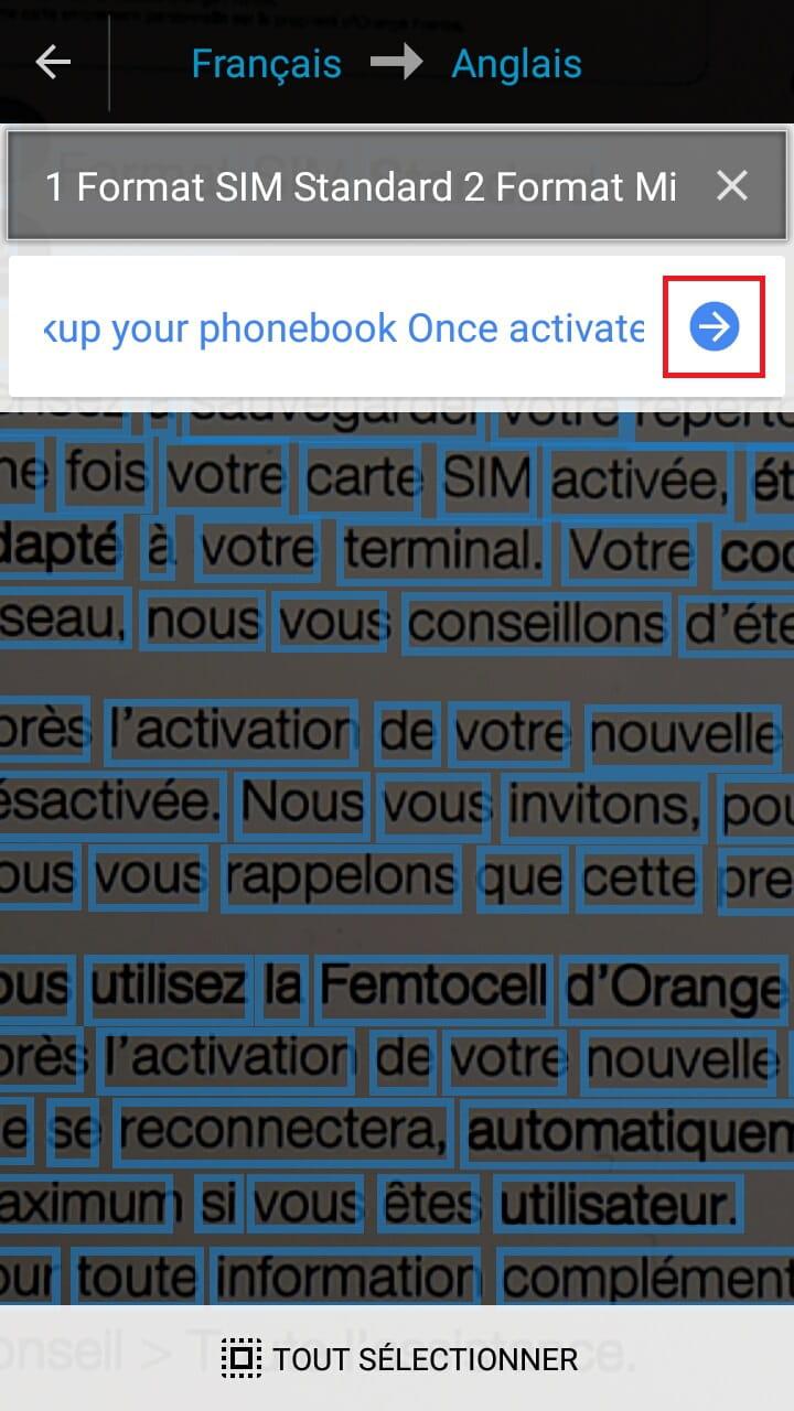 Enfin En Cliquant Sur La Fleche Bleue Encadree Rouge Vous Pouvez Afficher Traduction Complete Du Texte Pris Photo