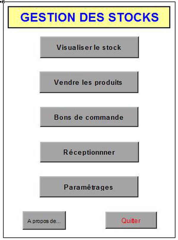 Visual Basic Vb Net Gestion Des Stocks Sous Macro Excel Codes
