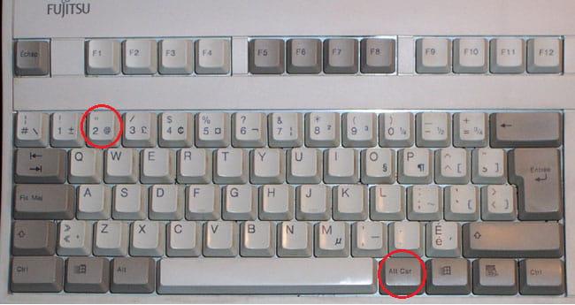 trouver la touche   sur un clavier qwerty de la marque lenovo  r u00e9solu