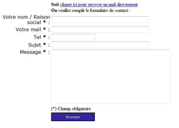 Php Formulaire De Contact Php5 Poo Verification Envoi Du Mail