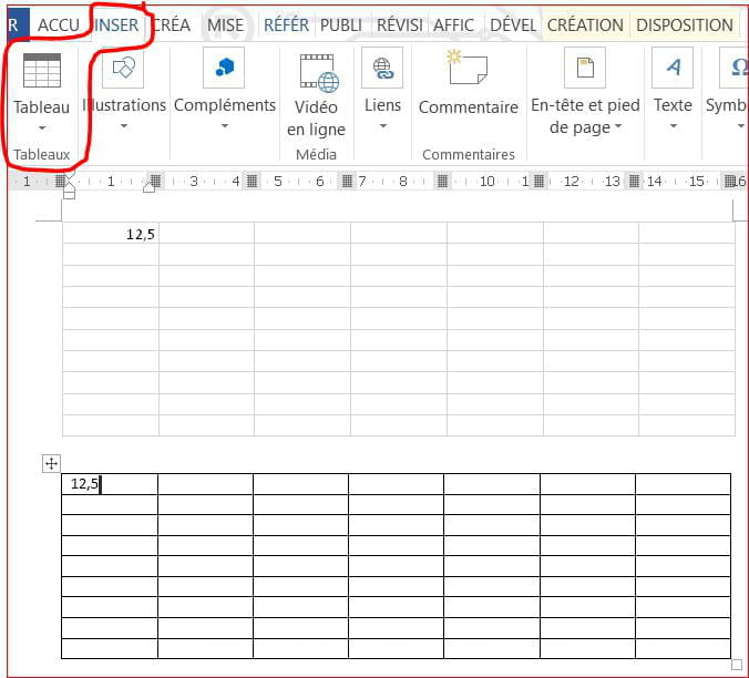 modification tableau excel dans document word  r u00e9solu