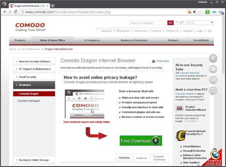 Télécharger Comodo Dragon Internet Browser (gratuit)