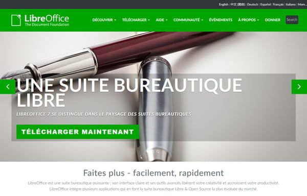 Téléchargement de LibreOffice