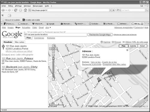 A Gauche De La Carte Est Indiquee Ladresse Recherchee Vous Constatez Que Google Maps Transforme Levallois En 92300 Perret