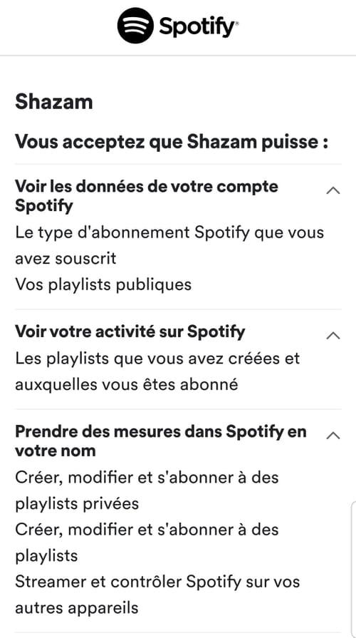 Sauvegarder ses découvertes Shazam dans une playlist Spotify Shazam_2