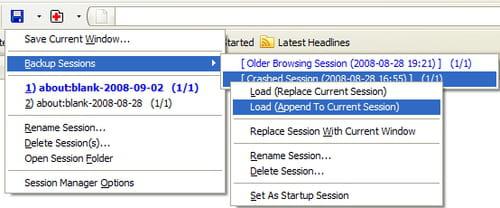 Firefox Comment Restaurer Une Session