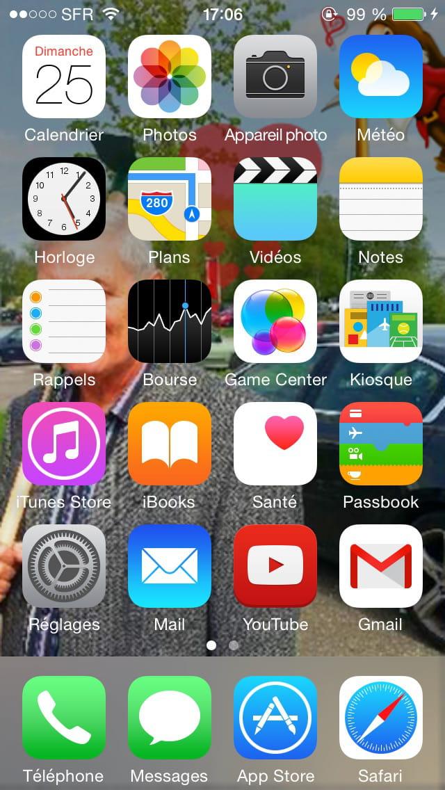 Iphone 6 abaisser les ic nes de l 39 cran d 39 accueil for Photo ecran avec iphone 7