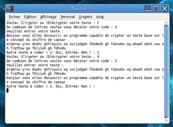 Python : Cryptage avec le chiffre de césar - CodeS SourceS