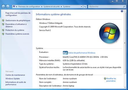 Probleme de memoire windows 7