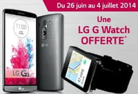 LG : jusqu'au 4 juillet, une LG G Watch offerte pour l'achat du smartphone LG G3
