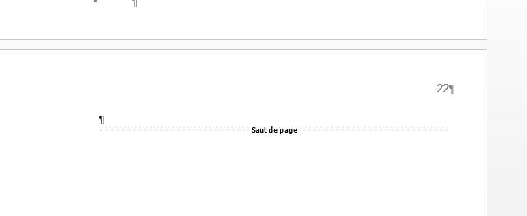 comment supprimer une page word