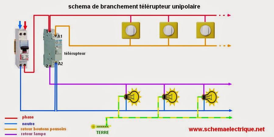 Branchement Bouton Poussoir Résolu