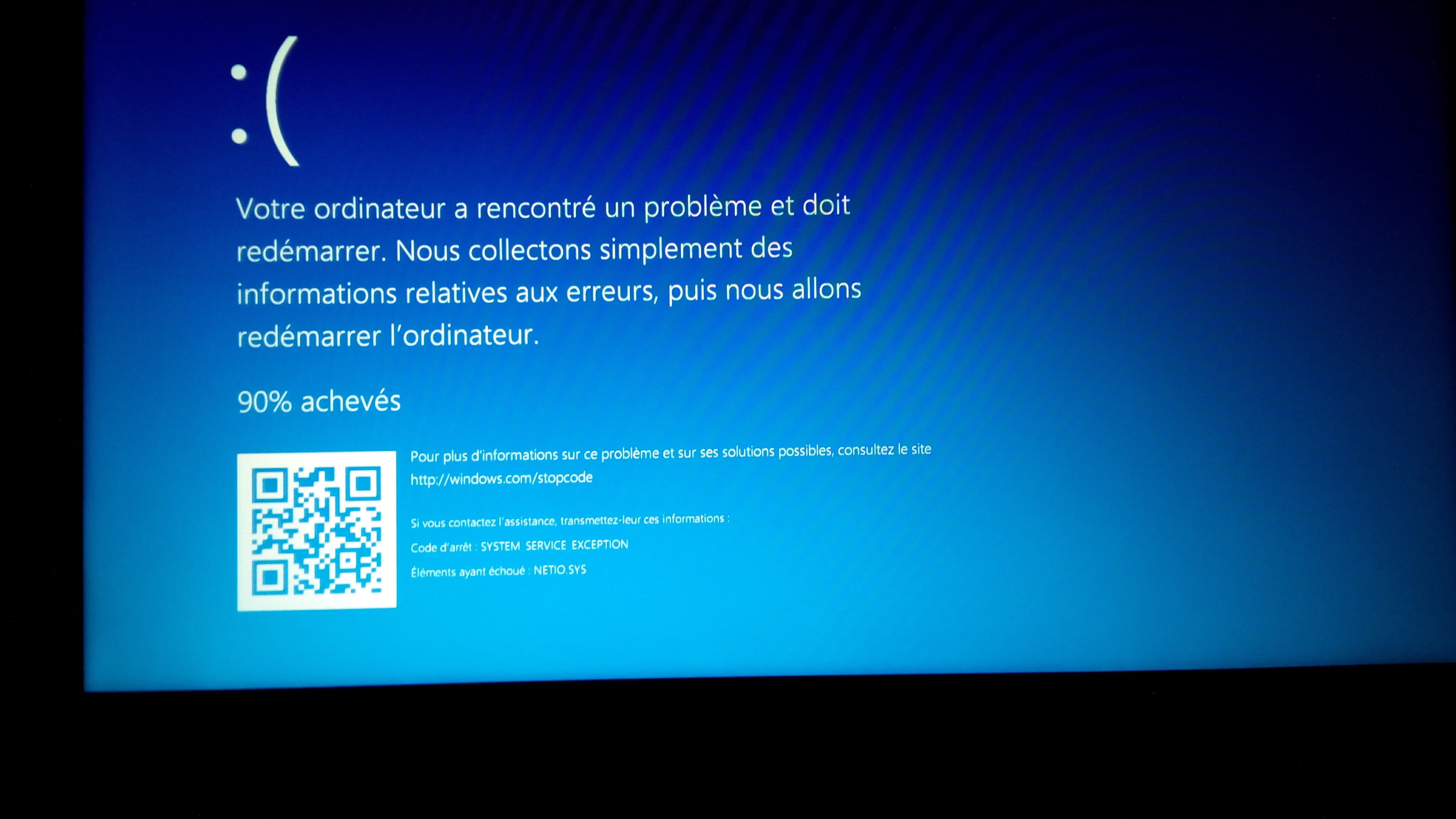 Windows rencontr un probl me et doit red marrer - Communaut HP