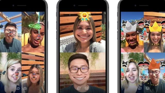 Des appels vidéo Messenger en AR