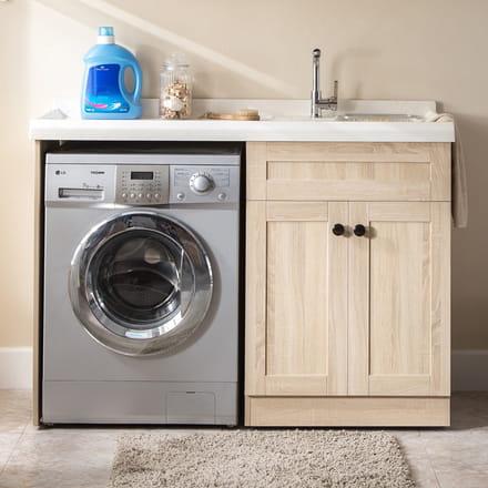 prendre un meuble avec espace lave linge comme celui ci httpswwwbon baincomproduitmeuble salle de bain espace lave linge 130 cm c simple