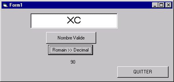 visual basic vb net convertion chiffre romain decimal. Black Bedroom Furniture Sets. Home Design Ideas