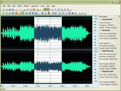 T l charger audio music editor gratuit - Couper un fichier mp3 en plusieurs morceaux ...