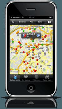 Frais généraux – Réduire la facture d'essence sur iPhone