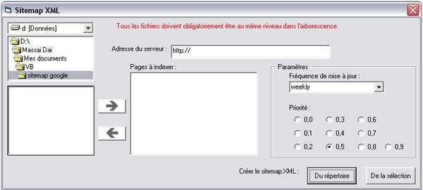 visual basic vb net création de sitemap pour google sitemaps
