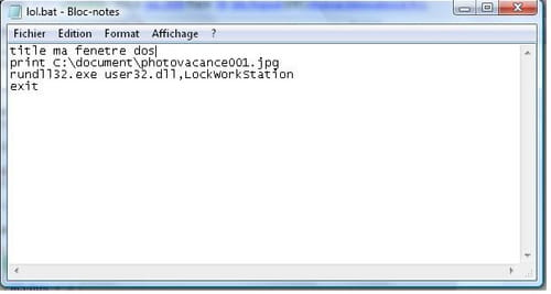 Creer Des Fichiers De Commande En Batch