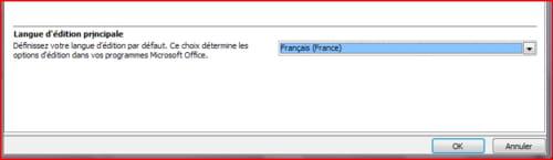 word 2007 changer la langue d233dition par d233faut
